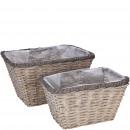 Plant basket Agila, rectangular, set of 2, .L38x28